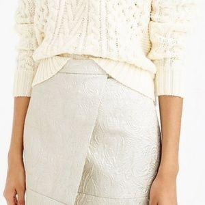 NWT J Crew Textured Metallic Matelasse Skirt Sz 00
